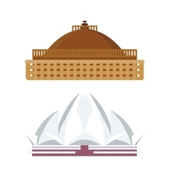 India landmark taj mahal travel vector