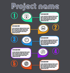 infographic process visualization template on dark vector image