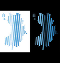 Koh tao thai island map hex-tile mosaic vector