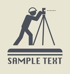 Land surveyor icon vector image
