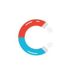 letter c logo like magnet icon vector image vector image