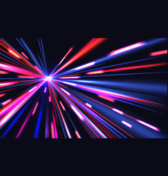 light speed trails cyberpunk background with vector image