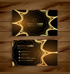 luxury business card in golden style vector image