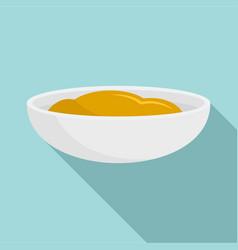 mustard sauce icon flat style vector image