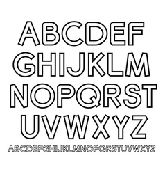 outline Alphabet vector image