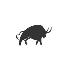 ox silhouette black and white vector image
