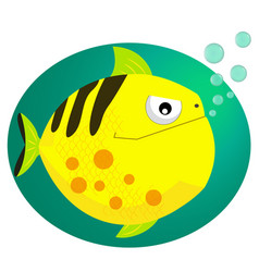 Piranha cartoon character isolated on white vector