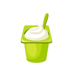 Plain YogurtMilk Based Product Isolated Icon vector