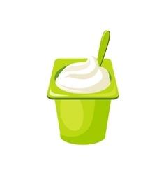 Plain YogurtMilk Based Product Isolated Icon vector image