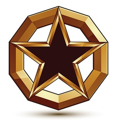 Polished template with pentagonal star dimensional vector