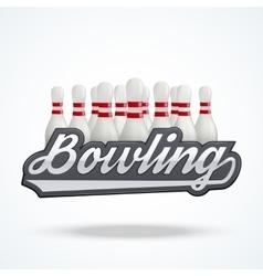 Premium Bowling labels vector image