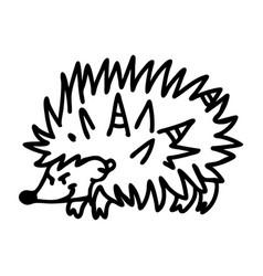 Punk rock hedgehog with mohawk vector