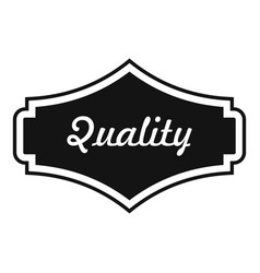 quality label icon simple style vector image