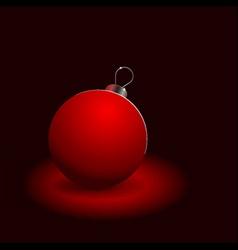 red christmas ball on black vector image