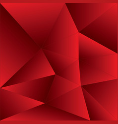 Red polygonal template abstract vector