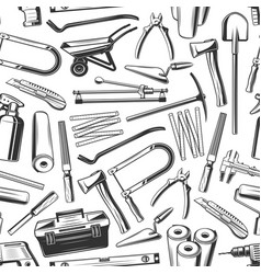 repair work tools and equipments seamless pattern vector image
