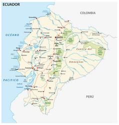 Republic of ecuador road and national park vector