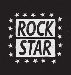 Rock star prints label vector