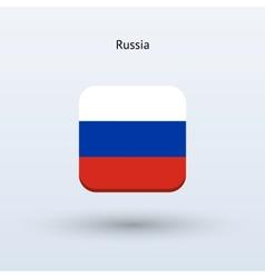Russia flag icon vector