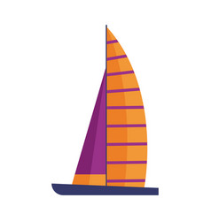 sail ship icon vector image