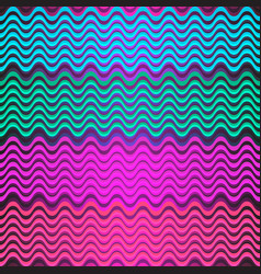 seamless colorful pattern of multicolored wavy vector image