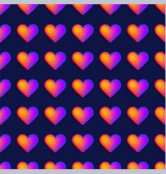 seamless rainbow realistic heart pattern vector image