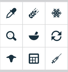 Set of simple agricultural vector