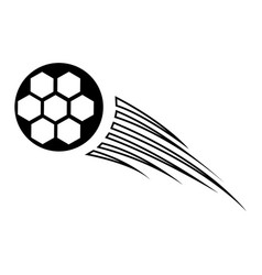 Silhouette soccer ball icon sport vector