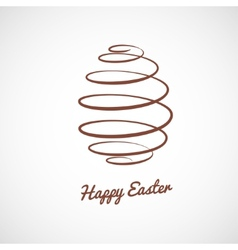 spiral Easter egg vector image