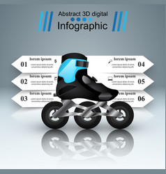 sport infographic roller icon vector image