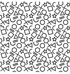 stylish seamless pattern of simple black geometric vector image