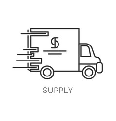 supply isolated linear icon logistics vector image