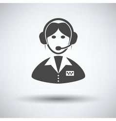 Taxi dispatcher icon vector image