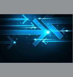 technology in the form of arrows vector image