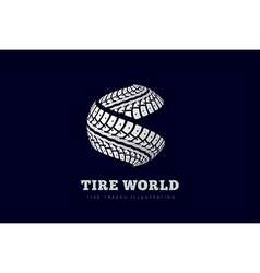 Tire Track brand invert vector image