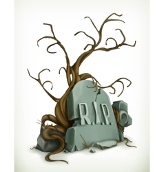 Tomb rest in peace vector image