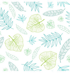 Tropical drawing summer hawaiian seamless vector