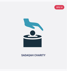 two color sadaqah charity icon from religion-2 vector image