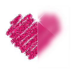Valentines love background with heart vector