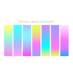 vibrant colorful hologram color gradients vector image
