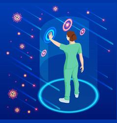 virus attacks respiratory tract pandemic vector image