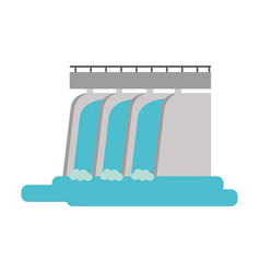 waterfall cartoon flat vector image