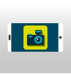 White smartphone photo camera network digital vector