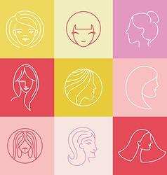 Womens logo design elements vector