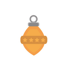 yellow light bulb stars decoration happy christmas vector image