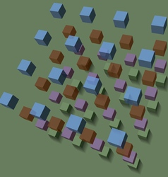 Background of the volume of cubes vector image