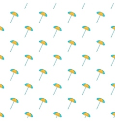 Beach umbrella pattern cartoon style vector image