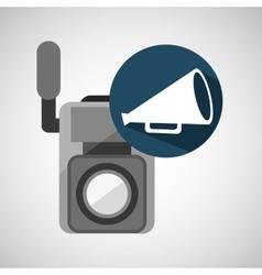 movie video camera speaker vintage vector image vector image