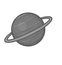Sarurn planet icon black monochrome style vector image