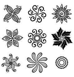 Set Deco Small Circles vector image